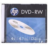 DVD-RW Regravável 4.7GB 120 Minutos 4X 1 UN HP