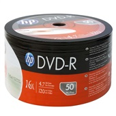 DVD-R Gravável 120min 4.7GB 16X 50 UN HP