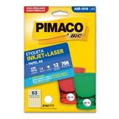 Etiqueta Adesiva InkJet e Laser A5 19mm Branco A5R-1919 CX 756 UN Pimaco