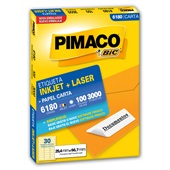 Etiqueta InkJet Laser 25,4x66,7mm Branco 6180 3000 UN Pimaco
