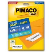 Etiqueta Adesiva InkJet e Laser Carta 25,4x66,7mm Branco 6280 CX 750 UN Pimaco