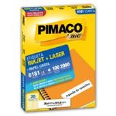 Etiqueta Adesiva InkJet e Laser Carta 25,4x101,6mm Branco 6181 CX 2000 UN Pimaco