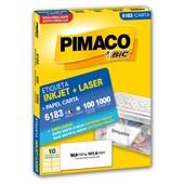 Etiqueta InkJet Laser 50,8x101,6 Branco 6183 1000UN Pimaco