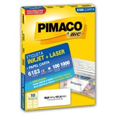 Etiqueta InkJet Laser 50,8x101,6mm Branco 6183 1000UN Pimaco