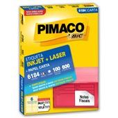 Etiqueta Adesiva InkJet e Laser Carta 84,67x101,6mm Branco 6184 CX 600 UN Pimaco