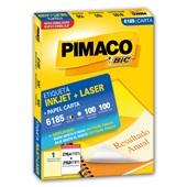 Etiqueta Adesiva InkJet e Laser Carta 279,4x215,9mm Branco 6185 CX 100 UN Pimaco