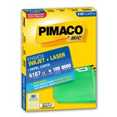 Etiqueta Adesiva InkJet e Laser Carta 12,7x44,45mm Branco 6187 CX 8000 UN Pimaco