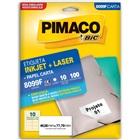 Etiqueta Adesiva InkJet e Laser Carta 46,56x77,79mm Branco 8099F CX 10