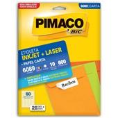 Etiqueta Adesiva InkJet e Laser Carta 16,93x44,45mm Branco 6089 CX 600 UN Pimaco