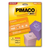 Etiqueta Adesiva InkJet e Laser Carta 279,4x215,9mm Cristal 0085 CX 10 UN Pimaco
