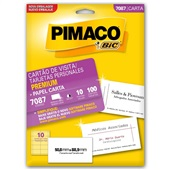 Cartão de Visita Personal Cards Premium PT 100 UN Pimaco