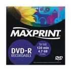 DVD-R Gravável 120min 4.7GB 1X-16X 1 UN Maxprint