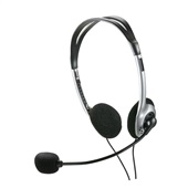 Headset Basic com Microfone P2 Prata PH002 1 UN Multilaser