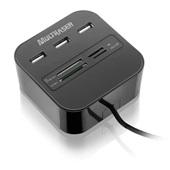 Hub 3 Portas USB com Leitor de Cartão AC121 1 UN Multilaser