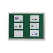Quadro de Aviso com Porta de Vidro Feltro e Alumínio 90x120cm Board Net
