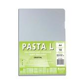 Pasta em L A4 com Visor Cristal 220x307mm PT 10 UN Chies