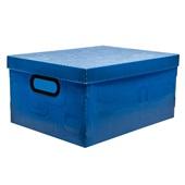 Caixa Organizadora Média 20L Azul 28x29x18,5cm 1 UN Dello