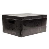 Caixa Organizadora Grande 26L Preto 42x31x20cm 1 UN Dello
