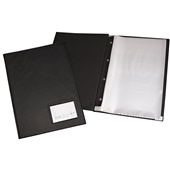 Pasta Catálogo Ofício com 100 Envelopes Visor 245x335mm Preto 1 UN ACP