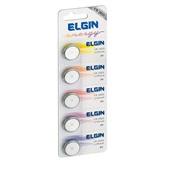 Bateria de Lithium 3V Formato Botão CR2025 5 UN Elgin