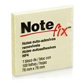 Bloco Adesivo 100 Folhas 76x76mm Amarelo 1 UN Notefix