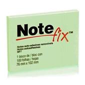 Bloco Adesivo 100 Folhas 76x102mm Verde 1 UN Notefix
