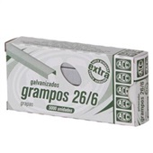 Grampo Galvanizado 26/6 CX 5000 UN ACC
