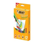 Lápis de Cor Triangular Gigante 12 Cores Bic
