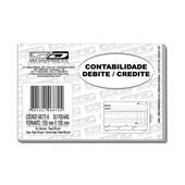 Bloco Contabilidade Debite Credite Branco 50 FL 6872-6 São Domingos