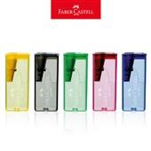Apontador com Depósito Retangular Cores Sortidas 1 UN Faber Castell