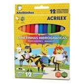 Caneta Hidrográfica Colorir Abelhinhas 12 Cores Acrilex