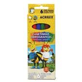 Caneta Hidrográfica Colorir Abelhinhas 6 Cores Acrilex