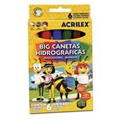 Caneta Hidrográfica Colorir Big Abelhinhas 6 Cores Acrilex