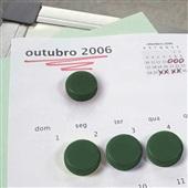 Imã Redondo Verde 2cm Cartela 6 UN Board Net