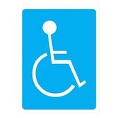 Placa de Sinalização Sanitário Deficiente Físico Azul 1 UN Sinalize