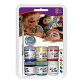 Tinta Facial Color Make com Pincel 6 Cores Yur