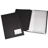 Pasta Catálogo Oficio com 20 Envelopes Visor 245x335mm Preta 1 UN  ACP