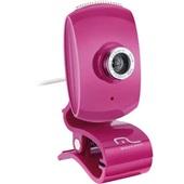 Webcam Facelook com Microfone 16Mp USB Pink WC048 1 UN Multilaser