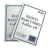 Bloco para Rascunho Sulfite Sem Pauta 11x16cm 50 FL 1 UN San Remo