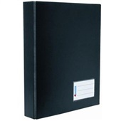 Pasta Catálogo A4 com 100 Envelopes Ferragem Visor Lateral 320x270mm Preto 1 UN Chies