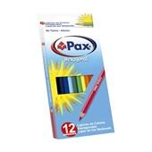 Lápis de Cor Sextavado Pax 12 Cores Licyn