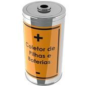 Coletor de Pilhas e Baterias 25L Laranja 50cm 1 UN Jedox
