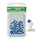 Alfinete para Mapa Nº 1 Azul Escuro CX 50 UN Iara
