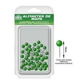Alfinete para Mapa Nº 1 Verde CX 50 UN Iara