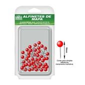 Alfinete para Mapa Nº 1 Vermelho CX 50 UN Iara
