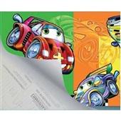 Plástico Autoadesivo Estampa Top Car 45cm x 2m 1 UN Plastcover