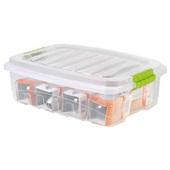 Caixa Organizadora Gran Box Baixa 13,7L Cristal 45,7x32,6x13,8cm 1 UN Plasútil