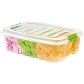 Caixa Organizadora Gran Box Baixa 26,5L Transparente 55,5x40,3x19,1cm 1 UN Plasútil