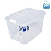Caixa Organizadora Gran Box Alta 19,8L Cristal 40,5x29x24,5cm 1 UN Plasútil