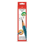 Lápis Preto B N.2 Eco Grip Triangular Azul CX 12 UN Faber Castell
